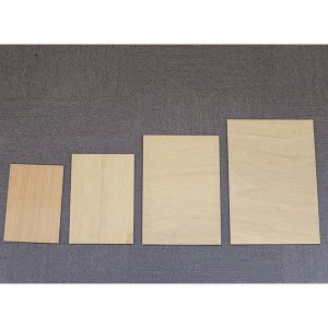 規格サイズ ベニヤ板 A3サイズ4枚組の詳細画像1