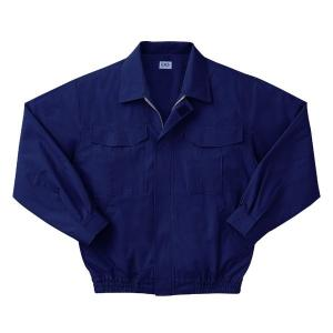 空調服 綿薄手長袖作業着 M-500U 〔カラーダークブルー: サイズM〕 電池ボックスセット|freney