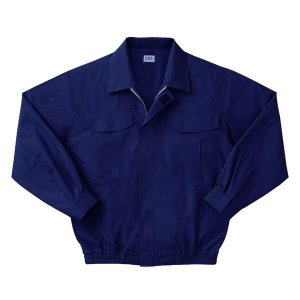空調服 綿薄手長袖作業着 M-500U 〔カラーダークブルー: サイズXL〕 電池ボックスセット|freney