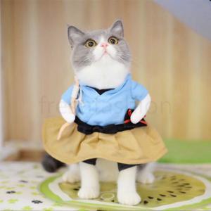 新品 犬服 猫服 犬用 ネコ猫用 服 コスプレ 仮装 洋服 おもしろい 子猫 変身 着ぐるみ ペット服 ねこ 犬用 直立 コスチューム ネコ いぬ かわいい ウェア|freshfashion