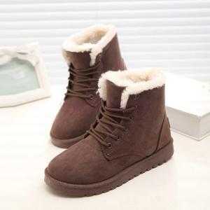 スノーブーツ ファッション ショート 靴 防寒 シンプル 無...