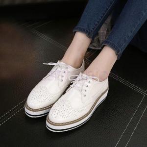 シューズ レディース オックスフォード レースアップ ポインテッド 靴 ローヒール パンプス おしゃれ カジュアル シンプル ぺたんこ 通勤靴 通学靴 紐靴 美脚 freshfashion