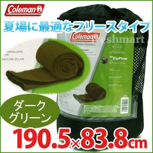 コールマン フリース スリーピングバッグ ダークグリーン 封筒型シュラフ Coleman