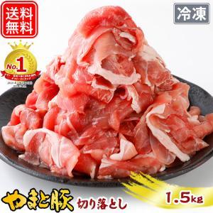 国産 やまと豚 切り落とし肉 メガ盛り1.5Kg | [冷凍] 送料無料 母の日 父の日 ギフト 食...