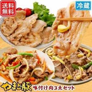 やまと豚味付け肉3点セットB NS-J | [冷蔵] やまと豚 豚肉 やまと 豚 ギフト お取り寄せグルメ 味付け肉 お肉 ギフトセット 食品 肉 お取り寄せ 食べ物 セット|frieden-shop