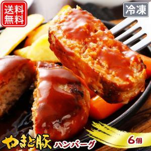 やまと豚 ポーク ハンバーグ (6個入) | [冷凍] 送料無料 ハロウィン 敬老の日 取り寄せ ギフト ステーキ お取り寄せグルメ 食べ物 肉 食品 内祝い プレゼント|frieden-shop