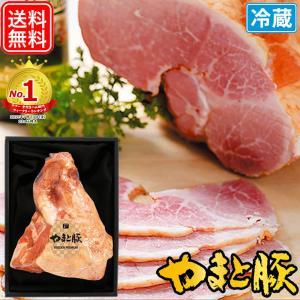 お中元 2021 やまと豚 骨付きハム ギフト NSG-M | [冷蔵] 送料無料 御中元 高級 ギフトセット 骨付き肉 ハムギフト お取り寄せギフト 食べ物 肉 食品 お肉|frieden-shop