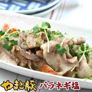 やまと豚 ネギ塩 (バラ薄切り)  200g(冷凍)味付け肉  | [冷凍] やまと豚 豚肉 お取り寄せグルメ お取り寄せ グルメ 食品 食べ物 冷凍食品 味付き 焼肉|frieden-shop