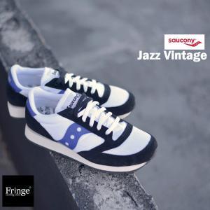 47491868130cc Saucony サッカニー スニーカー メンズ JAZZ VINTAGE ジャズ ビンテージ White/Black