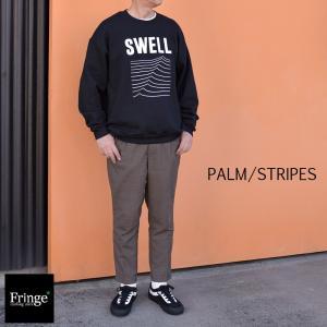パームストライプス PALM/STRIPES イーブンフロー EVENFLOW SWELL SWAET CREW スエットクルーブラック スエットクルー 西海岸 サーフ ロゴプリント ベニス|fringe-cs