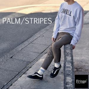 パームストライプス PALM/STRIPES イーブンフロー EVENFLOW SWELL SWAET CREW スエットクルーグレー スエットクルー 西海岸 サーフ ロゴプリント ベニス|fringe-cs