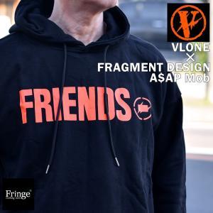 FRAGMENT×VLONE フラグメント×ヴィーロン ヴィーローン パーカー スウェット FRIENDS HOODIE1  ロゴ プルパーカー A$AP Mob エイサップ モブ  藤原ヒロシ fringe-cs
