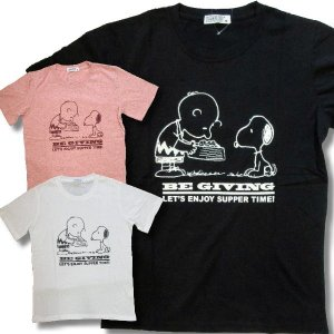 スヌーピー 半袖 Tシャツ メンズ ごはん 柄 薄手 アメカジ /bia108|frogberry