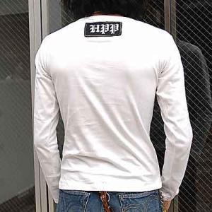 在庫処分セールpart2 メンズ 長袖 Tシャツ HPP お兄系 細身 宇宙人髑髏柄 メンズ 長袖 Tシャツ ロンTee /bia348|frogberry|03