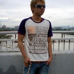 在庫処分セールpart2 アメカジ Tシャツ メンズ 半袖 フェイクレイヤード ギター チェック 柄 / bia359|frogberry