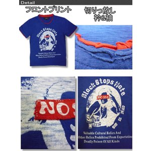 POINT CHARY アメカジ Tシャツ メンズ 半袖 レディー 柄 ダメージ加工 / bia395 frogberry 02