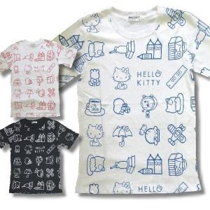 サンリオ ハロー キティ メンズ 半袖 Tシャツ 総 柄 アメカジ 薄手 / bia484 frogberry