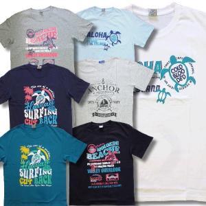 3L 4L 大きいサイズ メンズ 半袖 Tシャツ アメカジ マリン柄 亀 サーフ柄 / bia615|frogberry