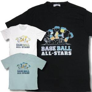 スヌーピー 大きいサイズ アメカジ Tシャツ メンズ 半袖  野球 スポーツ 柄 吸汗速乾 / bia922|frogberry