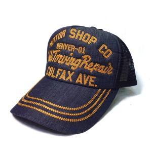 アメカジ メンズ メッシュ キャップ 帽子 刺繍 英字 / bic004|frogberry