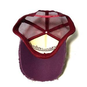 アメカジ メンズ メッシュ キャップ 帽子 刺繍 英字 切りっ放し生地 / bic009|frogberry|03
