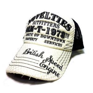 アメカジ メンズ メッシュ キャップ 帽子 刺繍 英字 アミアミ / bic010|frogberry