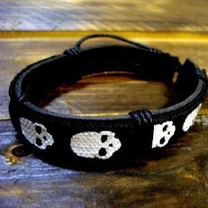 スカル ブレスレット 本革 メンズ バイカーズ ファッション アメカジ /bie001|frogberry