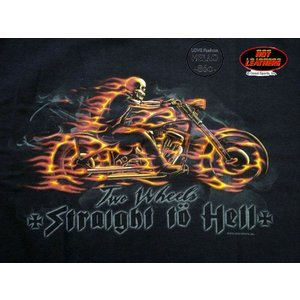 即納 再無 メンズ 半袖 Tシャツ バイカーファッション 大きいサイズ 炎のバイク髑髏 黒 /rfa089|frogberry|02