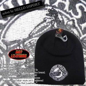 即納 ニット キャップ 帽子 メンズ バイク ワッペン / rfh017|frogberry