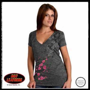即納 ワイルドロック 花咲くプリント Vネック半袖Tシャツ レディース 薄手/wot226|frogberry