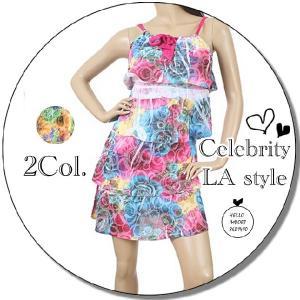インポート ワンピース 花柄 ティーアド レディース  LAファッション 服  / wow027|frogberry