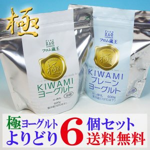 (低温長時間発酵製法/アルミパウチ入り)フロム蔵王 極(KIWAMI)ヨーグルト選り取り6個セット(送料無料)|from-zao