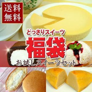 お試しセット どっさりスイーツ福袋 (送料無料) (ロールケーキ、チーズケーキ、なまどら他)|from-zao
