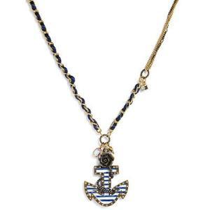 ★ベッツィージョンソン Betsey Johnson In the Navy Anchor Pendant Necklace  マリン アンカー ペンダント ネックレス|fromla