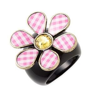 ★ベッツィー・ジョンソン Betsey Johnson ベッツィーズピクニック ギンガムフラワーリング Betsey's Picnic Gingham Flower Statement Ring|fromla
