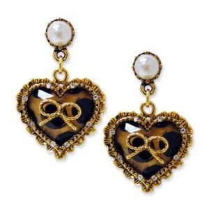 【セール】★ベッツィージョンソン Betsey Johnson ドットハート チャーム イアリング Dot Heart Charm Earrings|fromla