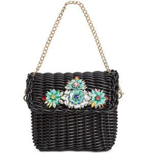 ベッツィージョンソン かごバッグ Betsey Johnson  Basket Case Small Shoulder Bag (Black) バスケット スモール ショルダーバッグ(ブラック) fromla