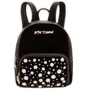 ベッツィージョンソン バックパック Betsey Johnson  Pearl Stud Medium Backpack (Black) パール ミディアム バックパック/リュック(ブラック) fromla