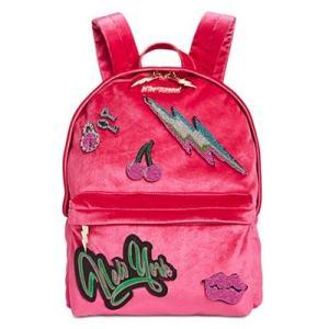 ベッツィージョンソン バックパック Betsey Johnson  Velvet Medium Backpack (Pink) ベルベット ミディアム バックパック/リュック(ピンク) fromla