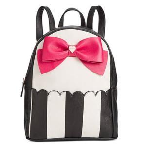 ベッツィージョンソン バックパック Betsey Johnson  Bow Backpack (Stripe Fuschia) ボウ バックパック/リュック(ストライプフューシャ) fromla