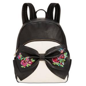 ベッツィージョンソン バックパック Betsey Johnson  Medium Bow Backpack (Black/Cream) ボウ ミディアム バックパック/リュック(ブラック/クリーム) fromla