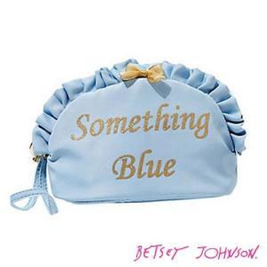 ベッツィージョンソン 化粧ポーチ BETSEY BLUE SOMETHING BLUE コスメケース(ブルー) ブランド雑貨 カワイイ 小物|fromla