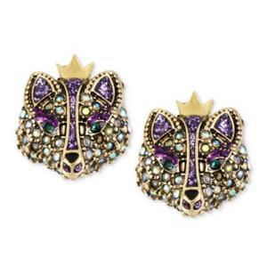 ベッツィージョンソン ピアス Betsey Johnson  Gold-Tone Crystal Fox Stud Earrings ゴールド クリスタル フォックス スタッド ピアス fromla