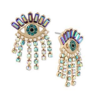 ベッツィージョンソン ピアス Betsey Johnson  Gold-Tone Crystal Evil-Eye Drop Earrings (Gold) クリスタル イーヴィルアイ ドロップ ピアス (ゴールド) fromla