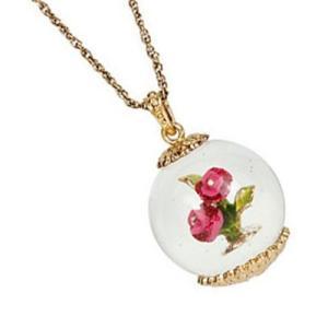 ベッツィージョンソン ロングネックレス BETSEY BAUBLE FLOWER GLOBE PENDANT バブル フラワー ロング ペンダント ネックレス(マルチ) 花|fromla