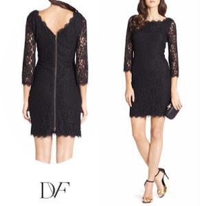 ダイアンフォンファステンバーグDVF レースワンピース Zarita Lace Dress(Black) レースドレス(ブラック) 新作 パーティドレス ブランドワンピ|fromla