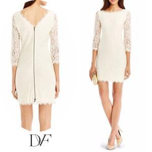 ダイアンフォンファステンバーグDVF レースワンピース Zarita Lace Dress(Ivory) レースドレス(アイボリー) 新作 パーティドレス ブランドワンピ|fromla