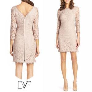 ダイアンフォンファステンバーグDVF レースワンピース Zarita Lace Dress(Nude) レースドレス(ヌード) ベージュ 新作 パーティドレス ブランドワンピ|fromla