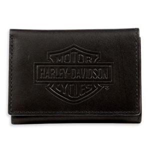 ハーレーダビッドソン Harley Davidson  財布  Harley-Davidson Men's Bar & Shield Logo Tri-Fold Short Wallet|fromla