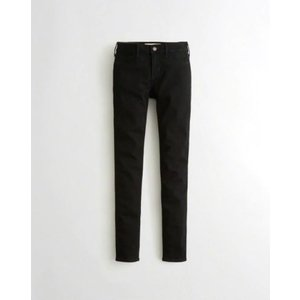 Hollister ホリスター レディース レギンスジーンズ STRETCH LOW-RISE SUPER SKINNY JEANS ブラック|fromla